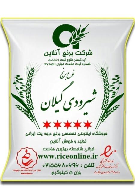 برنج شیرودی گیلان 5 کیلوگرم